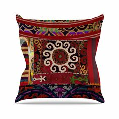 KESS InHouse SZ2017AOP03 18 x 18-Inch 'S Seema Z Burst of diverse Ethnic' Outdoor Throw Cushion - Multi-Colour *** Be sure to check out this helpful article.