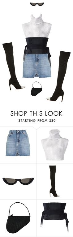 """""""love u in the dark"""" by andy993011 ❤ liked on Polyvore featuring Topshop, Baja East, Givenchy, Christian Dior and Alex Perry"""