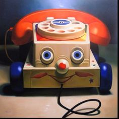 Chatterbox phone from Fisher Price. Did we all have one in the 60's? (And how many of us chattered away on them -- or had kids who chattered away on them? :)
