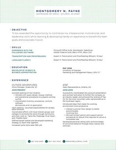 Resume Headers Simple Market Square