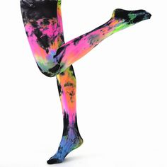 tie dye tights will set you apart in the crowd for sure!