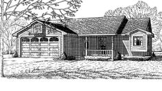Eplans Country House Plan - Three Bedroom Country - 1078 Square Feet and 3 Bedrooms from Eplans - House Plan Code HWEPL69879