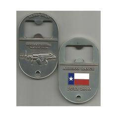 Allison Ranch Machinegun Shoot M249 SAW Bottle Opener Challenge Coin - Jimbo's Military Surplus - Another really cool bottle opener coin... #machinegun