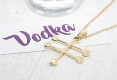 This chic vodka molecule. | 15 Clever AF Necklaces For Science Lovers
