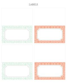 Printable Invitations and labels for a party