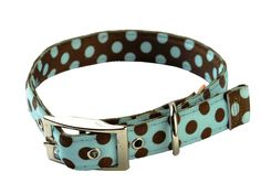 Yellow Dog Design Uptown Polka Dot Dog Collar, Large, Blue/ Brown: £6.19 & FREE Delivery: 1inch wide Fits dogs neck 21inch - 24inch