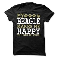 My Beagle Makes Me Happy T Shirts, Hoodies, Sweatshirts. CHECK PRICE ==► https://www.sunfrog.com/Pets/My-Beagle-Makes-Me-Happy-T-Shirt.html?41382