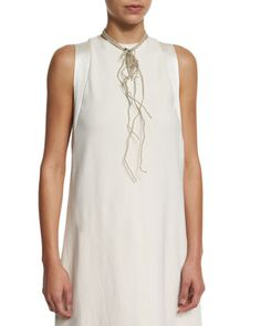 Multi-Strand Beaded Choker Necklace, Butter by Brunello Cucinelli at Neiman Marcus.