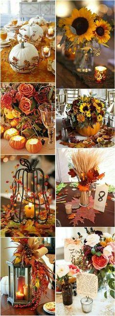 Fab wedding decor ideas for fall or winter weddings