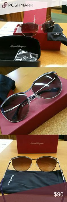 Salvatore Ferragamo Salvatore Ferragamo SF 147S sunglasses with purple accents. They are new with box, dust sleeve, glass cleaner, and case. Salvatore Ferragamo Accessories Glasses