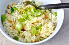 Coconut Ginger Rice Grains, Coconut, Rice, Dinner, Food, Suppers, Essen, Yemek, Jim Rice