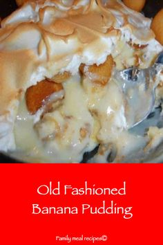 Old Fashioned Banana Pudding - Family meal recipes bread cake healthy muffins pudding recipes chocolat plantain recette recette Banana Pudding From Scratch, Old Fashioned Banana Pudding, Banana Pudding Cupcakes, No Bake Banana Pudding, Southern Banana Pudding, Homemade Banana Pudding, Banana Pudding Recipes, Meal Recipes, Dessert Recipes