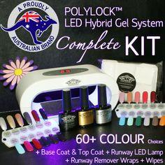 Polylock Shellac nail kit