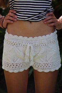 Crochet Beach shorts