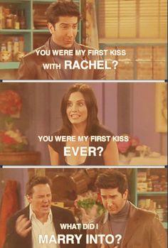Ross Geller, Monica Geller and Chandler Bing