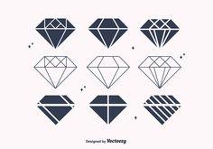 Free Flat Diamond Vectors                                                       …
