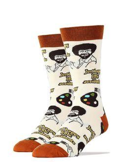 2615b0089cd These Bob Ross socks for men say