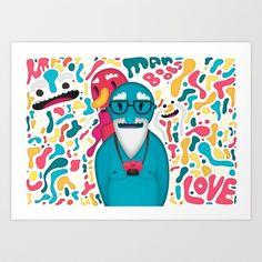 Moobies Art Print by Mrbiscuit - $18.00