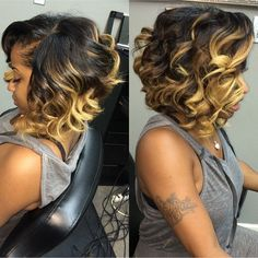 30 Trendy Bob Hairstyles for African American Women 2019 medium curly hairstyle for black women – messy bob Hot Hair Styles, Hair Styles 2016, Medium Hair Styles, Curly Hair Styles, Natural Hair Styles, Curly Bob Hairstyles, Black Women Hairstyles, Weave Hairstyles, Short Haircuts