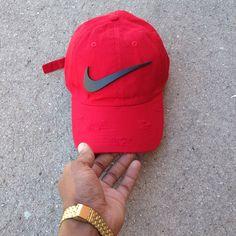 5eb4fc6eca835 Red Matte Check Dad Cap. SkyLife Boutique