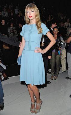 Taylor Swift wearing Elie Saab at the Elie Saab Fashion Show for Paris Fashion Week.