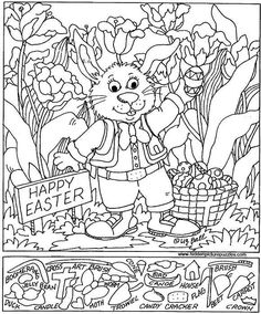 Education World has more than a dozen free hidden pictures that come right from Highlights Magazine. These free, printable puzzles feature . Easter Coloring Pictures, Easter Colouring, Easter Pictures, Colouring Pages, Coloring Books, Highlights Hidden Pictures, Hidden Pictures Printables, Hidden Picture Puzzles, Color Puzzle