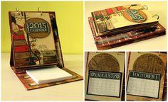 Arte, Artesania y Manualidades: Calendario porta notas masculino