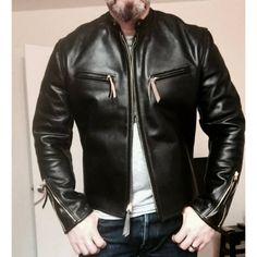 Men's Leather Jacket, Leather Men, Black Leather, Jacket Men, Leather Jackets, Motorcycle Suit, Evolution Of Fashion, Rugged Style, Next Fashion