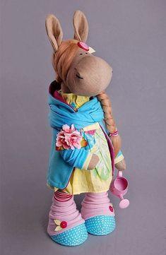 Horse doll Tilda doll Interior doll Art doll by AnnKirillartPlace