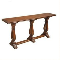 Long Narrow Wood Console Table