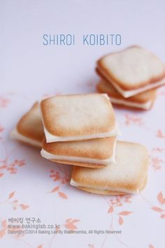Hokkaido's famous sweets, Shirogoibi which means white lovers … – Pastry World Japanese Cookies, Japanese Pastries, Cookie Desserts, No Bake Desserts, Cookie Recipes, Asian Desserts, Sweet Desserts, Japanese Desserts, Japanese Candy