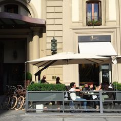 The outside view of Irene Firenze, hip new bistro in Florence, Italy