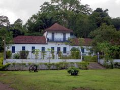 The Roca de Sao Joao Angolares, 40 kilometers south of Sao Tome town, São Tomé and Príncipe, is a former agricultural estate currently operating as a hotel and restaurant.