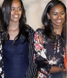 First Lady Michelle Obama, First Daughters Malia & Sasha In Morocco Malia Obama, Barack Obama Family, Michelle Obama, Obama Daughter, First Daughter, Afro, Joe Biden, My Black Is Beautiful, Beautiful People
