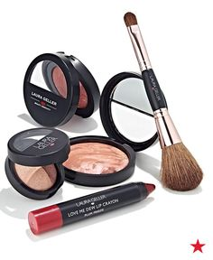 Not ready to let go of the warm radiance of summer? Laura Geller Bronzed and Flirty Fall Favorites Collection lets you indulge in the rich shades of the Fall season without giving up your sunkissed glow. The 5-piece set of transitional baked essentials includes a bronzer and shimmering pink blush that bring warmth to your complexion. Pick it up now at Macy's!