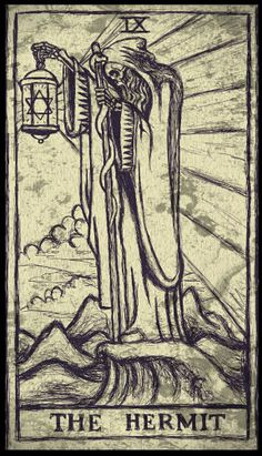 Tarot Card Print the Hermit by Shayne of the by ShayneoftheDead, $4.00