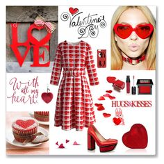 """Valentine's Day"" by ludmyla-stoyan ❤ liked on Polyvore featuring Elope, Chiara Ferragni, Make, Chicwish, Kat Maconie, women's clothing, women, female, woman and misses"