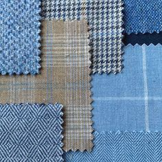 A little sneak peak at what we are now working on at the moment. Our designers are choosing fabrics from our weaving mill for the Spring Summer 2021 women's collection. Beautiful cool tones of sky, cobalt and true blue warmed by fawn, caramel and oat hues in an array contemporary designs.  #Magee1866 #sneakpeak #designinspo #blue #donegaltweed #fashion