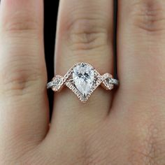 What a unique two-tone engagement ring - LOVE!