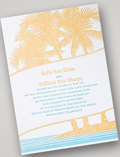 The Perfect Palette: Invitations by Dawn | Introducing: Letterpress Invitations