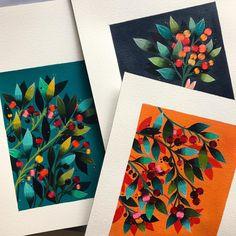 """""""Wildberries"""" / """"Frutos del bosque"""" Acrylic on Paper 27 x 32,5 cm: 10,6""""x 12,8""""/ Acrílico sobre papel / seried prints for sale / reproducciones seriadas 👉🏻mayahanisch@gmail.com...this friday new online shop!!! Thank you so much for your pacience dear friends! Este viernes está lista mi tienda online! muchas gracias por la paciencia! #wildberries #fruit #colors #instagood #love #arte #art #painting"""