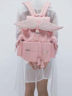 Sid Pink Winged Backpack Lucidmoxie accessories and bag streetsyle kawaii pastel goth grunge clo is part of Clothes Grunge Backpacks - 6 1 Exterior 1 front Side pocketsInterior 1 Zip Large Small pockets 1 Pen Key holderPremium pu leather Kawaii Fashion, Lolita Fashion, Cute Fashion, Fashion Outfits, Grunge Outfits, Pink Outfits, Kawaii Bags, Kawaii Clothes, Kawaii Outfit
