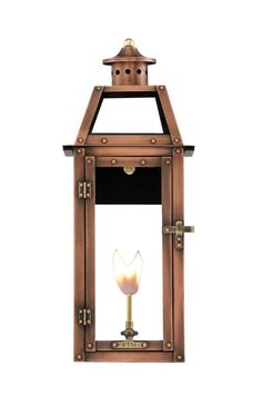 "Primo Lanterns BV-25G Bienville 14"" Wide Outdoor Wall-Mounted Lantern Natural Ga Copper Outdoor Lighting Wall Sconces Outdoor Wall Sconces"