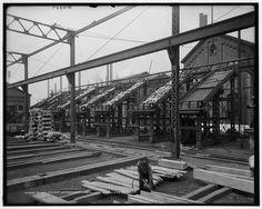 Billet chutes, Homestead Steel Works, Homestead, Pa.; 1908