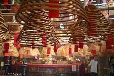 This is probably the most charming temple in Hong Kong, best known for the many incense coils hanging from the ceiling. It is dedicated to two deities: the God of Literature and the God of War.