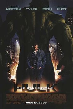 The Incredible Hulk one that was made with Edward Norton as the Hulk Marvel Comics Poster Marvel, Hulk Poster, Marvel Movie Posters, Hulk Marvel, Marvel Comics, Bruce Banner, The Incredible Hulk Movie, Films Marvel, Edward Norton