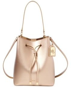 Lauren Ralph Lauren Debby Leather Drawstring Bag Handbags   Accessories -  Macy s 9a8084ae79b15