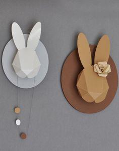 Paper Rabbit Heads by Chloé Fleury