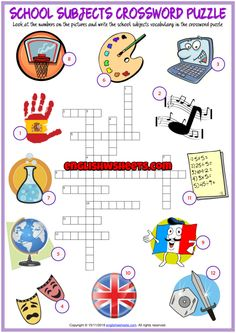 You are in the right place about Subjects lesson Here we offer you the most beautiful pictures about English Games For Kids, English Worksheets For Kids, English Activities, First Grade Worksheets, Fun Worksheets, Vocabulary Worksheets, Printable Crossword Puzzles, Subject And Predicate Worksheets, Learning Cards
