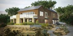 Photo-real rendering for a hillside Napa, CA residence.